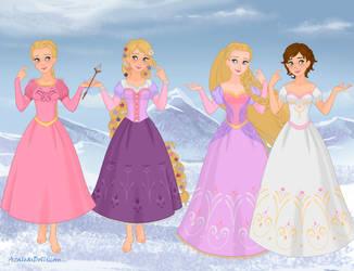 Barbie vs Disney Rapunzel