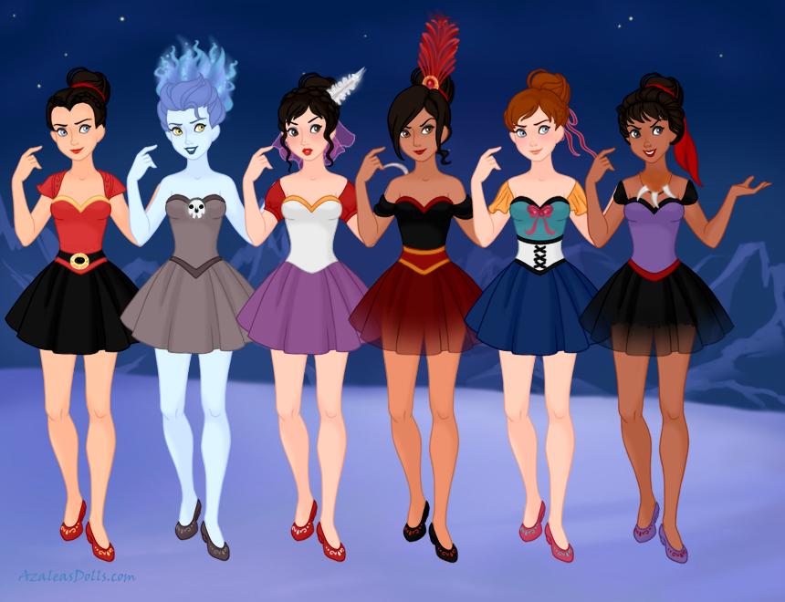 Disney Ballerinas Genderbent Villains By M Mannering On