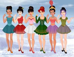 Non-Disney Bellerinas 2 by M-Mannering