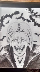 Inktober Dracula by ObscureDemon