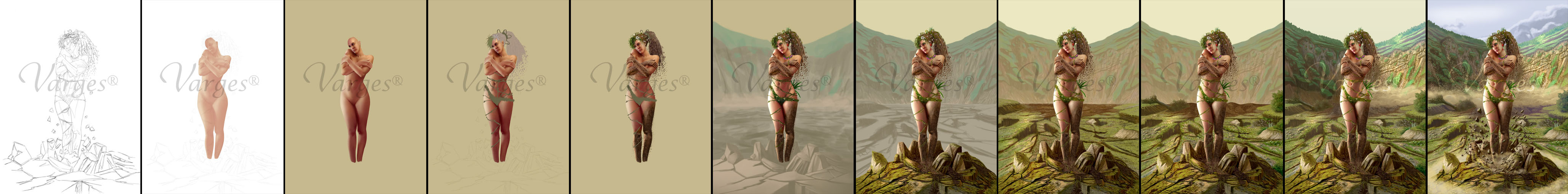 The 4 Elements - Earth - WIPs by Varges