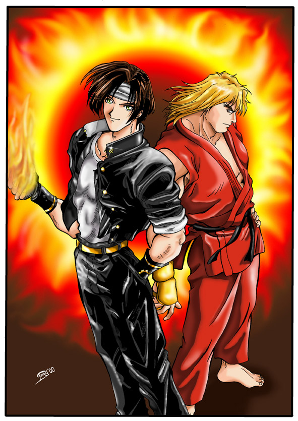 Kyo and Ken by Varges on DeviantArt