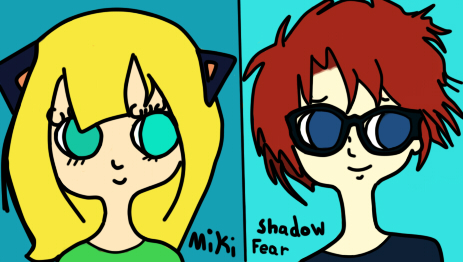 Miki and Shadow Fear by Queenkai color by neverb4 by neverb4