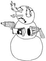 Evil Snowman by StarKirby