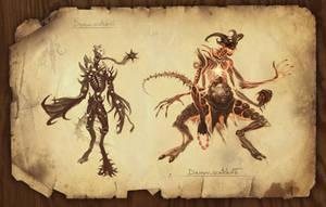 Demon sketch 1 by KoTnoneKoT
