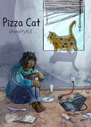 Pizza Cat Cover by WheresMyALE