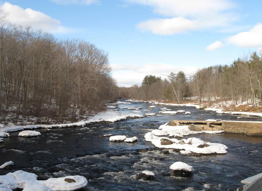 the icy flowing Contoocook by crazygardener