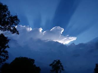 sun rays by crazygardener
