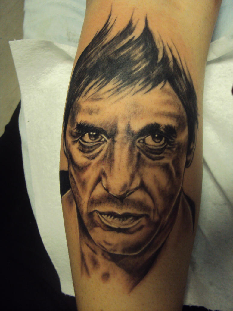 Scarface tattoo by salmasistattoo on deviantart for The world is yours tattoo
