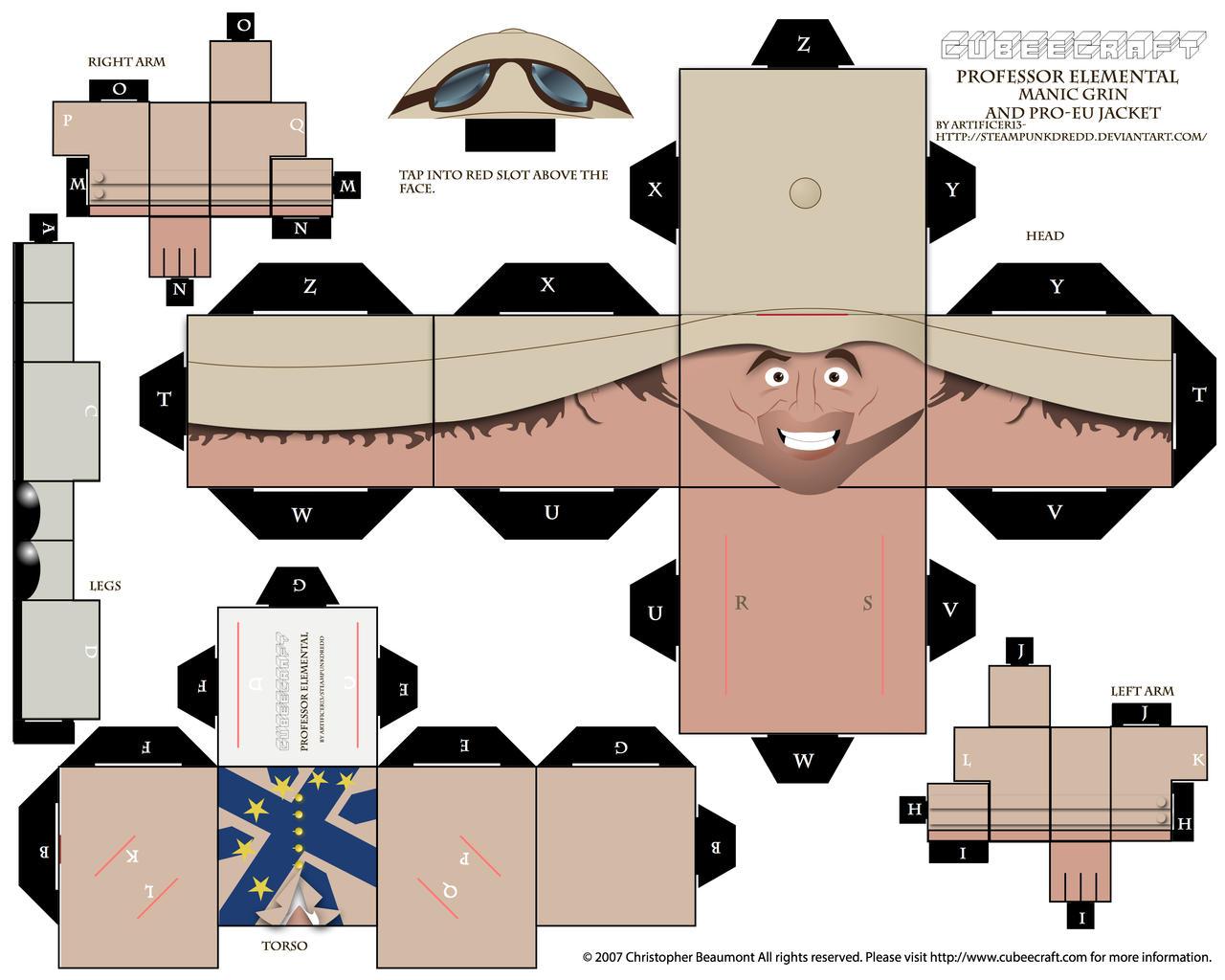 Professor Elemental Cubee- Remain in EU Jacket by SteampunkDredd