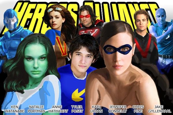 Heroes Alliance Movie Cast by fukujinzuke
