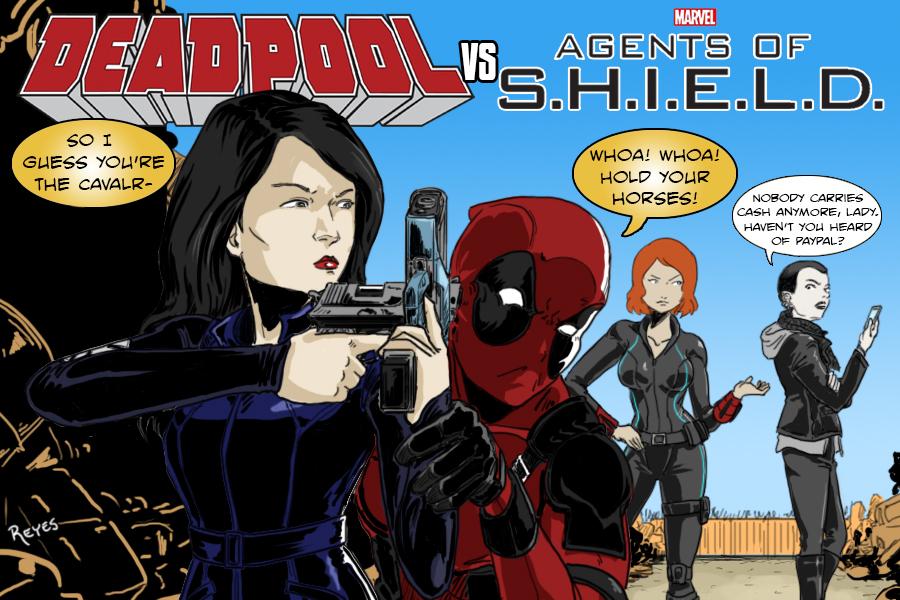 Deadpool Vs SHEILD by fukujinzuke