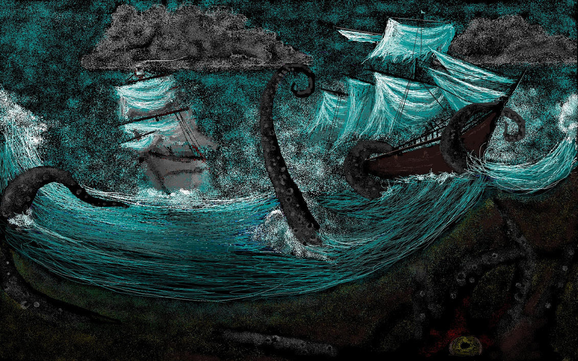 Kraken Vs Pirate By Milloune