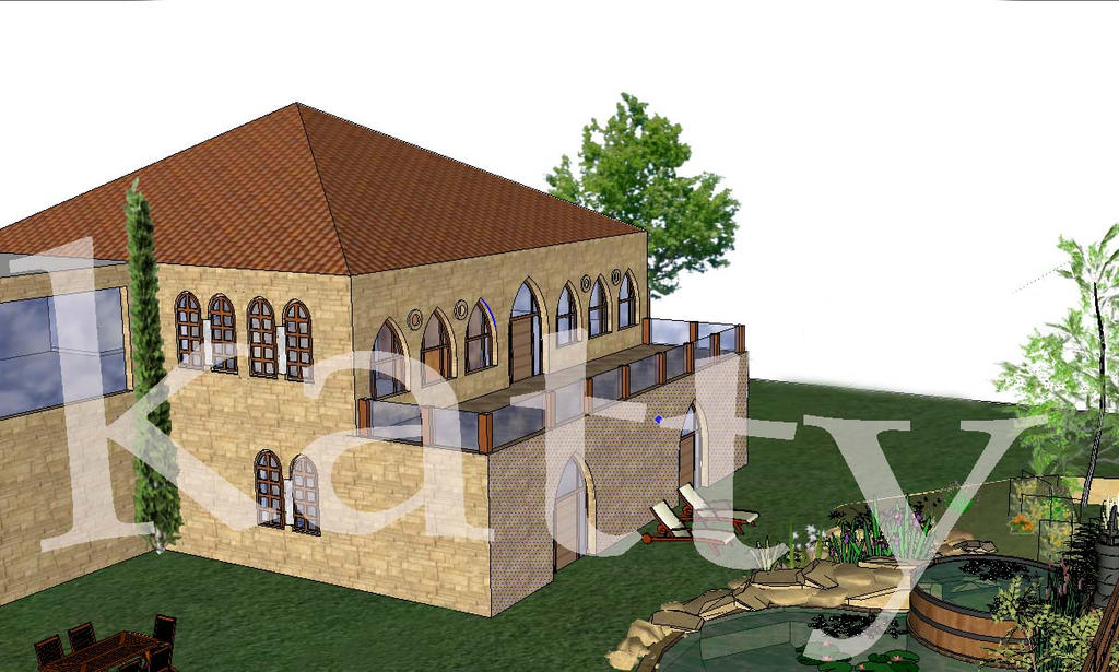 Maison libanaise by kattyfrem on deviantart for Architecture maison traditionnelle libanaise