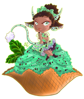 [Commission] Ice Cream Dreamer - Mini Chibi Series by Rica-Sensei