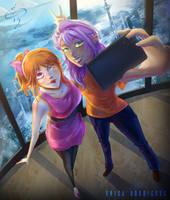 [Commission] Let's take a selfie!
