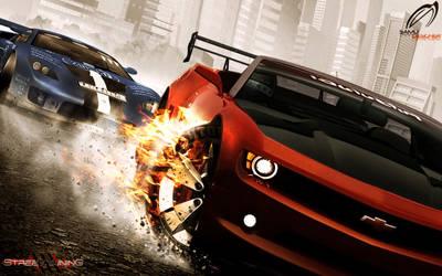 Chevrolet Camaro Tire Burning