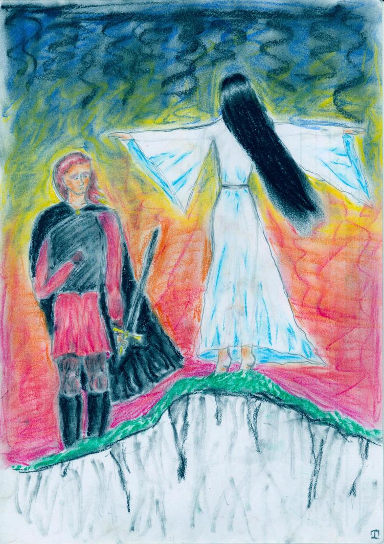 Elwing and Maedhros by romenriel