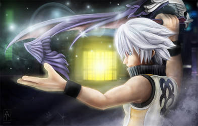 Riku - Kingdom Hearts Dream drop distance. by Aetiiart