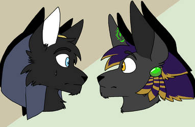 Anubis and.... Anubis?! by Egyptian-Enthusiast