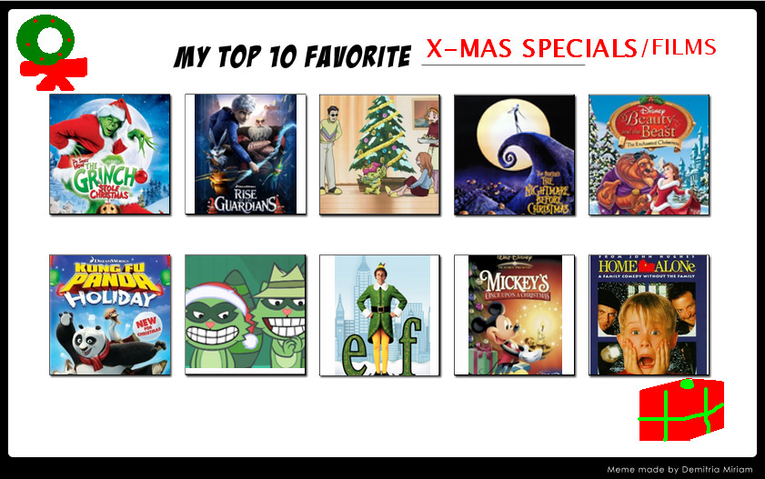 My Top 10 Favorite Christmas Specials by Soraply11
