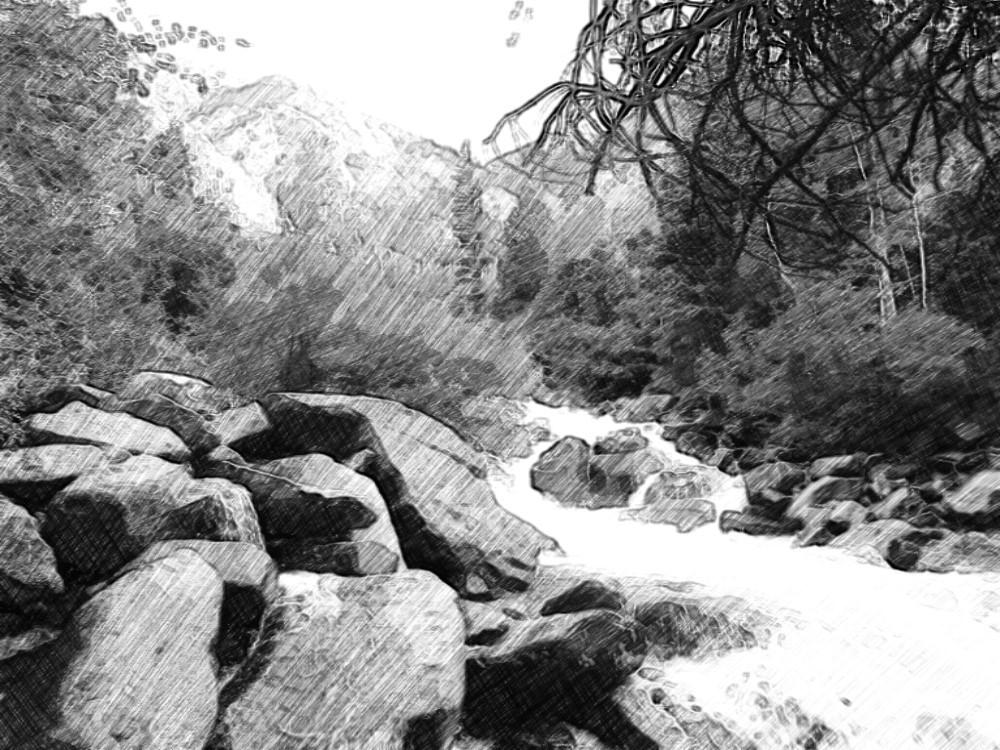 river rocks sketch by AngelsSilverWings
