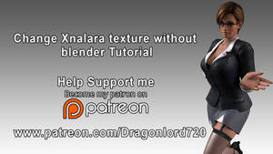 Change Xnalara texture  without blender