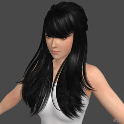Add hair to doa models tutorial by DragonLord720