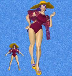 SFV Rose swimsuit