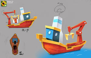Monster Life - Lottery boat by joslin