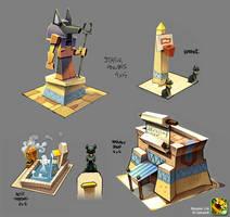 Monster Life - Egypt - Bunch of stuffs by joslin