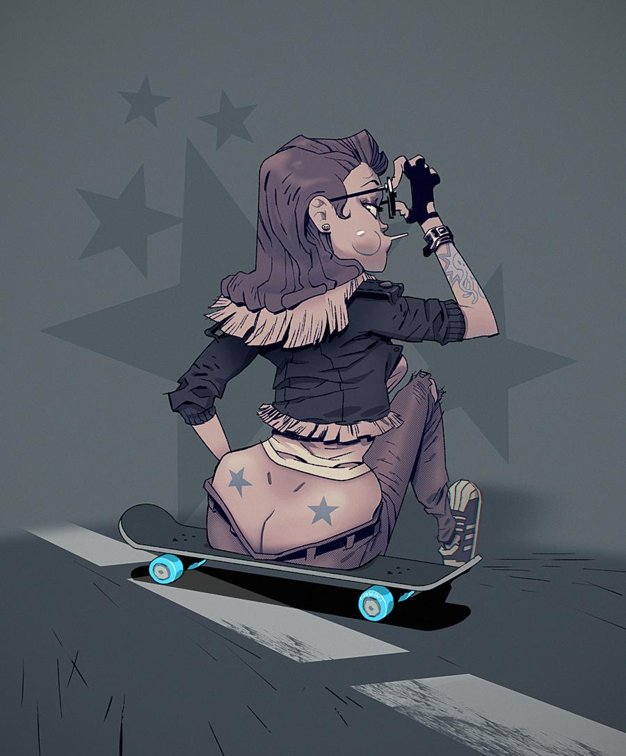 Skate Girl by joslin