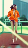 Orange Jacket by joslin