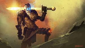 Blind swordman