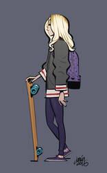 That girl in the metro by joslin
