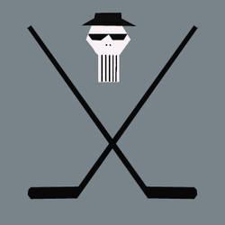 blues brothers hockey skull