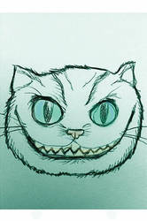 Tim Burton's Cheshire Cat by davidbigler