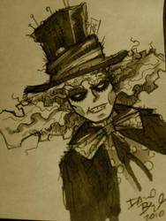 The Mad Hatter Johnny Depp by davidbigler