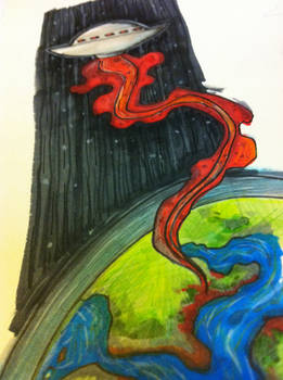 UFO leaves planet
