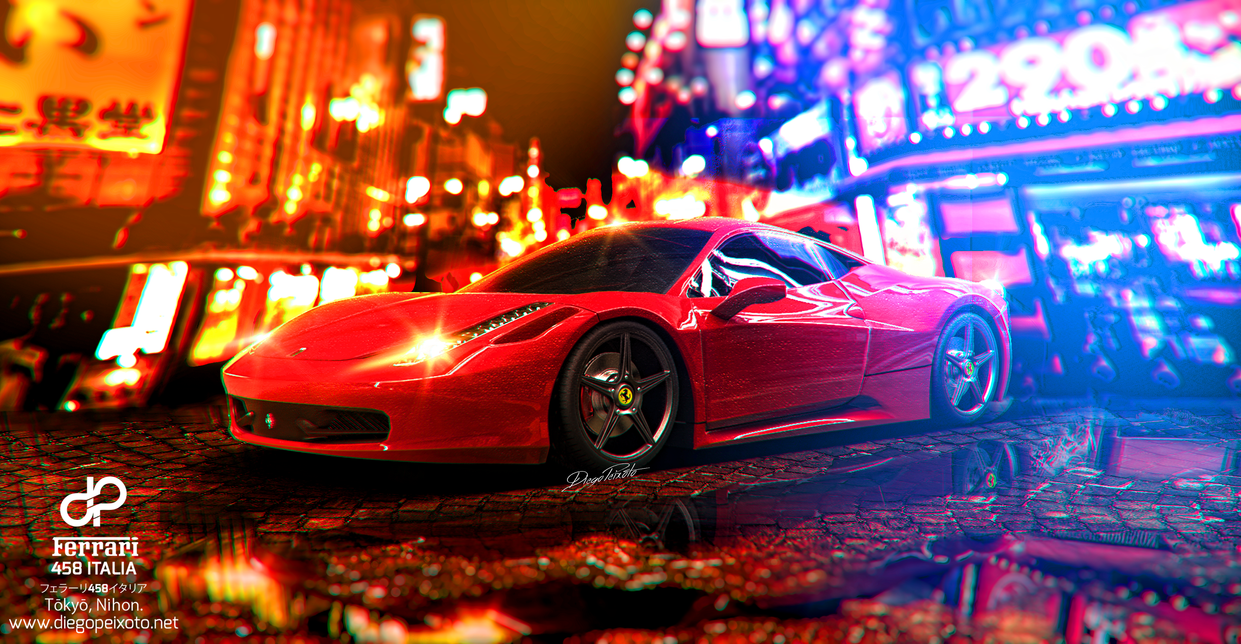 Must see Wallpaper Night Ferrari - ferrari_458_italia_tokyo_night___4k_front_by_crazypxt-d8e8mjr  HD-344061.png