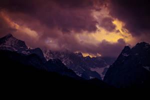 Bavarian Alps in the Thunder