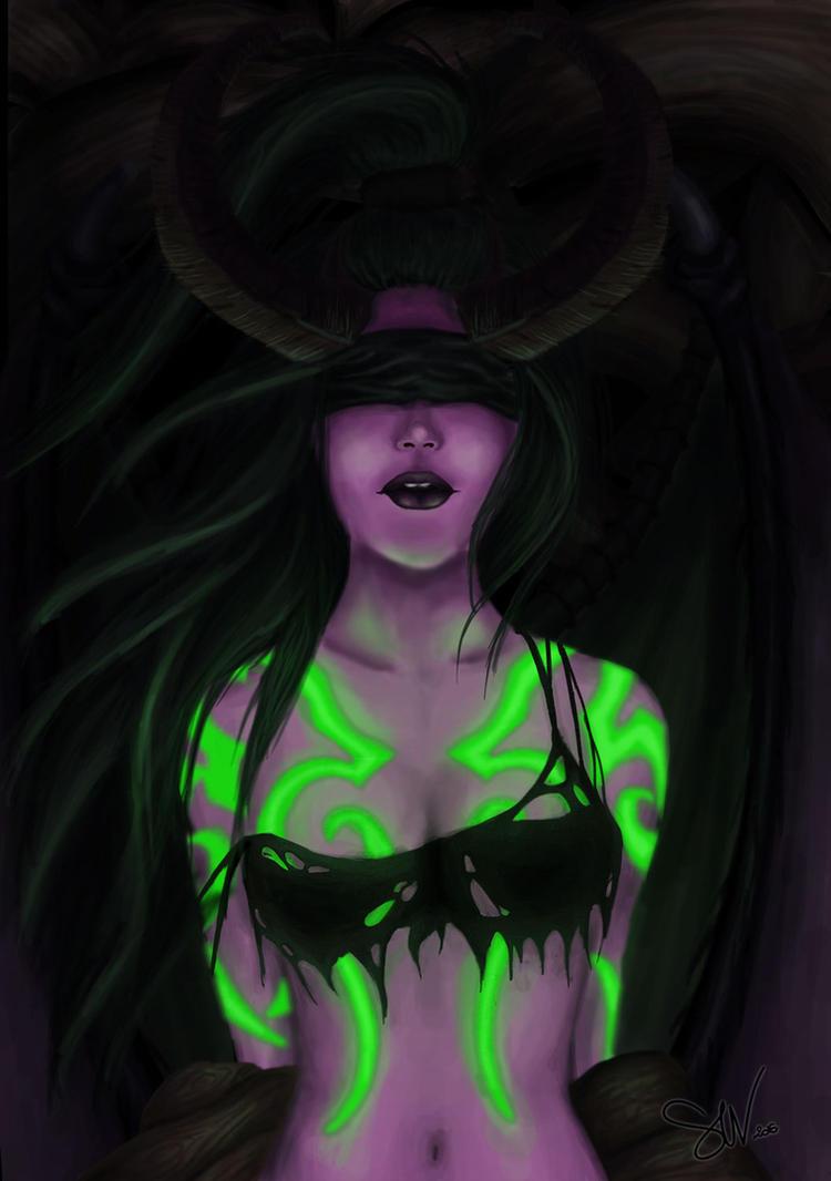 Illidan Stormrage - Female version by SWing-Art
