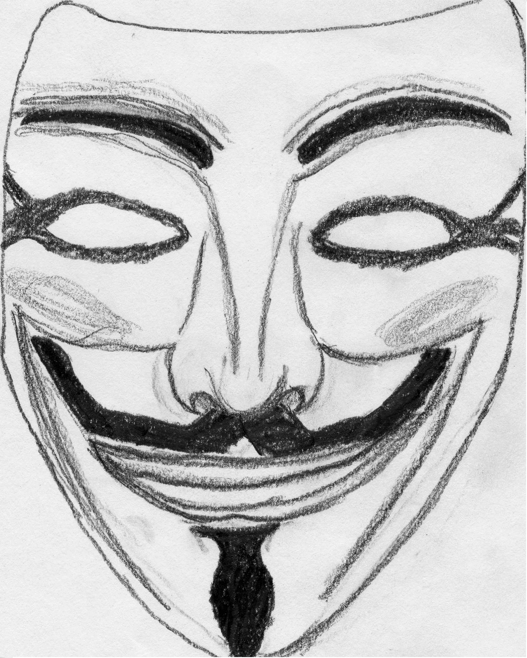 V For Vendetta Mask Drawing Drawings: Guy F...