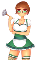 Commissioned: Maid Julie by NekoCakeArt by Kudos707