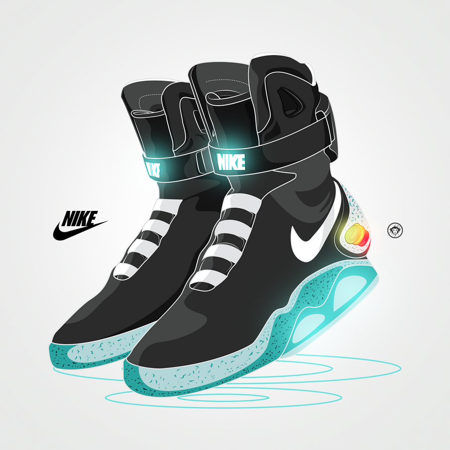 nike air mag back to the future illustration by swayjay on deviantart. Black Bedroom Furniture Sets. Home Design Ideas
