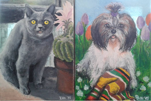 Chiki and Tinka (our beloved pets - R.I.P. _2015)