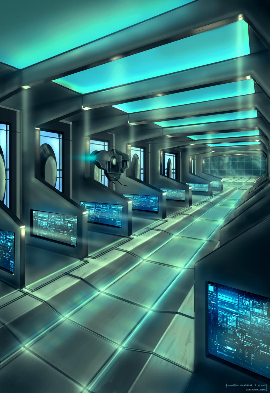 Spaceship Interior Concept Art