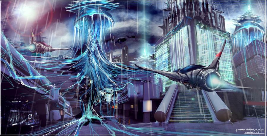 Cyberpunk city by capottolo