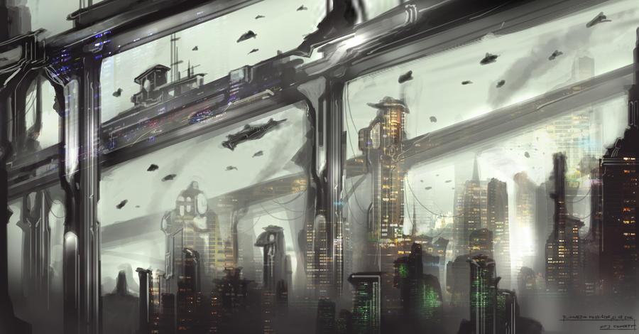 Z Dimenzió Sci_fi_city_concept_by_capottolo-d5c5a80