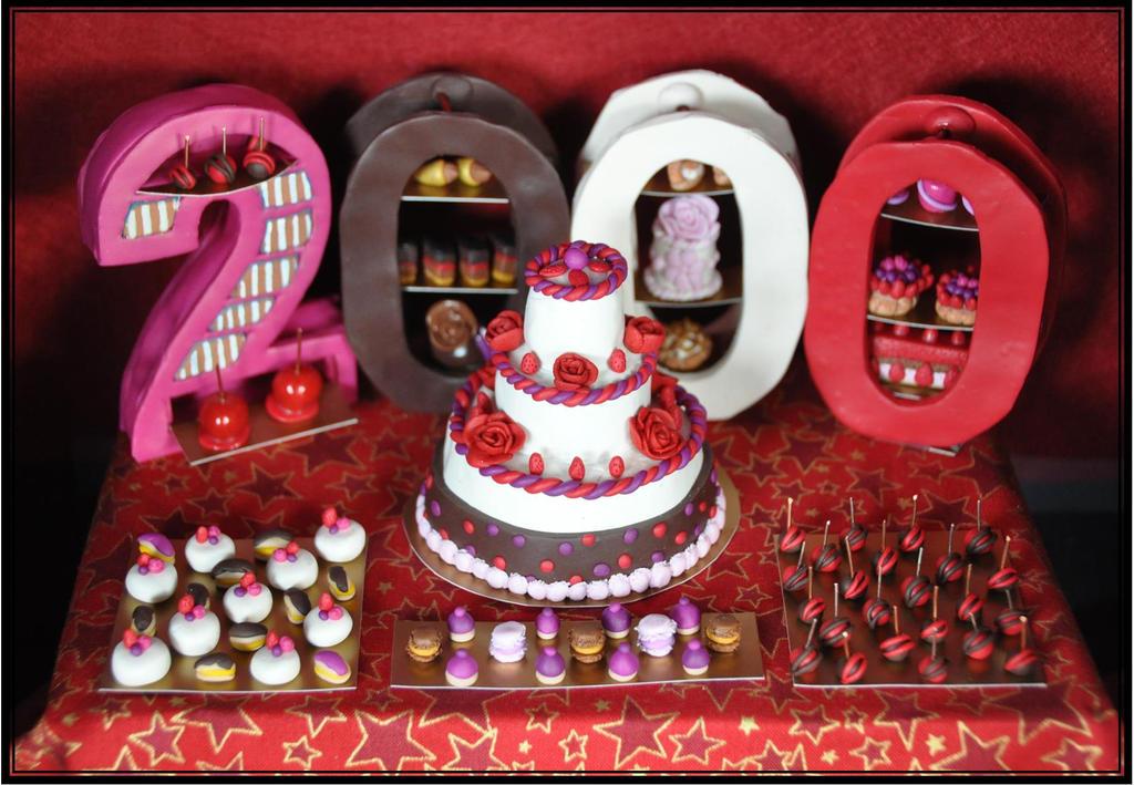 Party  Happy 2000 members semi sweeties by MeggieEris